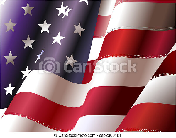 4th July – Independence day of United States of America. Poster for graphic designers - csp2360481