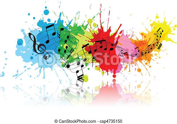 Abstract grunge music - csp4735150