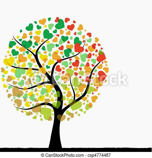 abstract heart tree - csp4774487