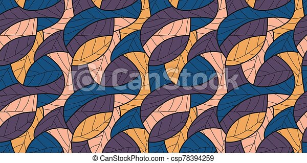 Abstract seamless wallpaper pattern background. Vector illustration. - csp78394259