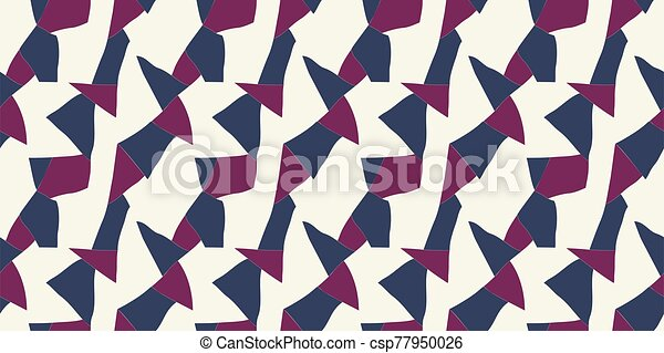 Abstract seamless wallpaper pattern background. Vector illustration. - csp77950026