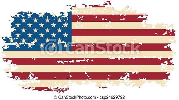 American grunge flag. Vector illustration. - csp24629792