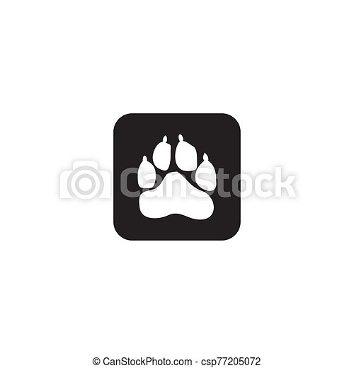 Animals paw track logo icon design vector template - csp77205072