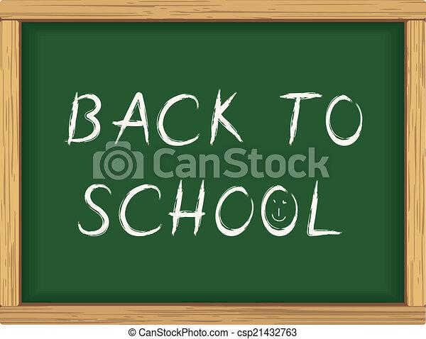 Back to school blackboard poster - csp21432763
