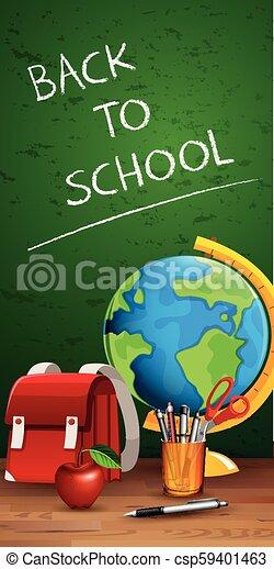 Back to school on blackboard - csp59401463