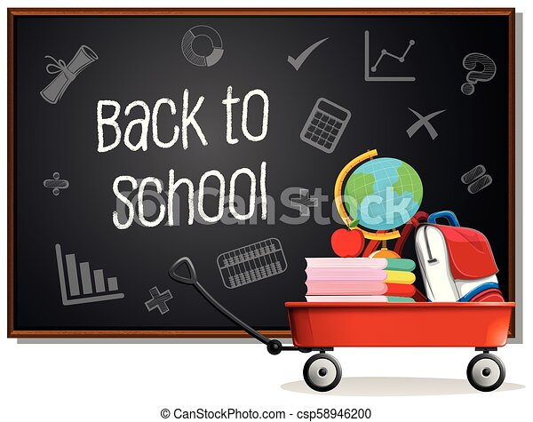 Back to school on blackboard - csp58946200