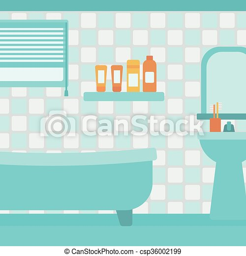 Background of private bathroom. - csp36002199