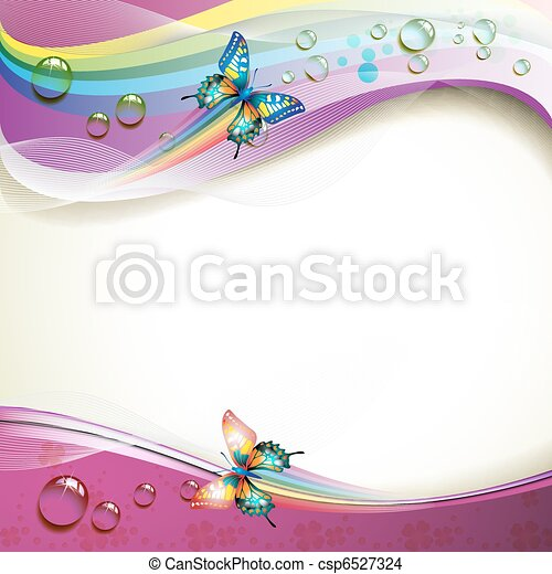 Background with butterflies - csp6527324