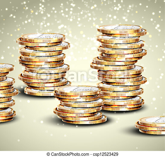 Background with coins - csp12523429