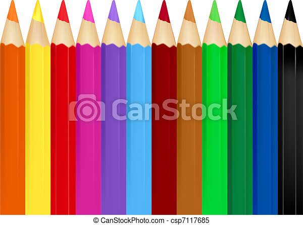 Background with color pencils - csp7117685