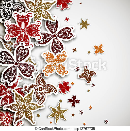 Background with flowers - csp12767735