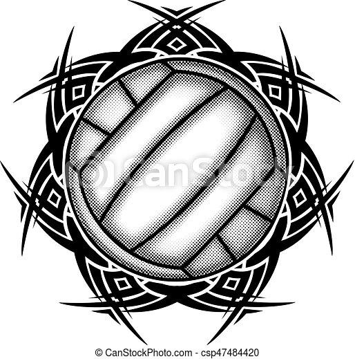 ball on pattern - csp47484420