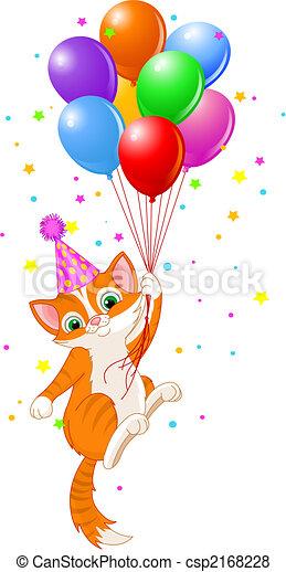 Balloons Cat - csp2168228