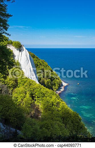 Baltic Sea coast on the island Ruegen in Germany - csp44093771