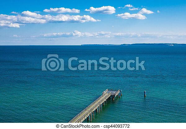 Baltic Sea coast on the island Ruegen in Germany - csp44093772
