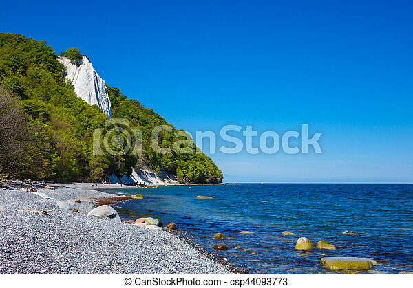 Baltic Sea coast on the island Ruegen in Germany - csp44093773