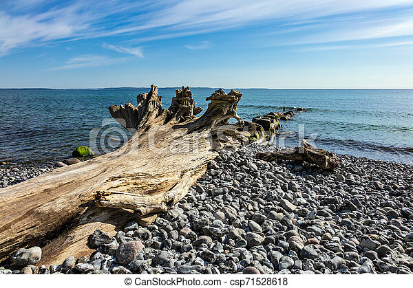 Baltic Sea coast on the island Ruegen in Germany - csp71528618