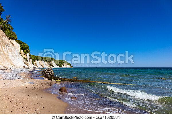 Baltic Sea coast on the island Ruegen in Germany - csp71528584