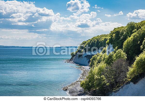 Baltic Sea coast on the island Ruegen in Germany - csp44093766