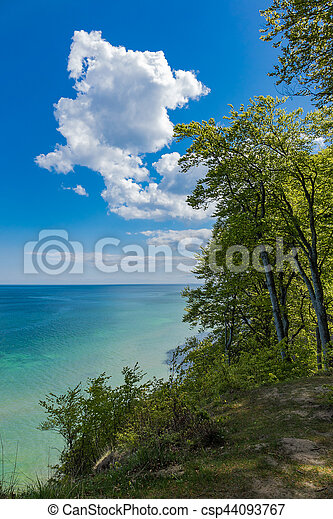 Baltic Sea coast on the island Ruegen in Germany - csp44093767