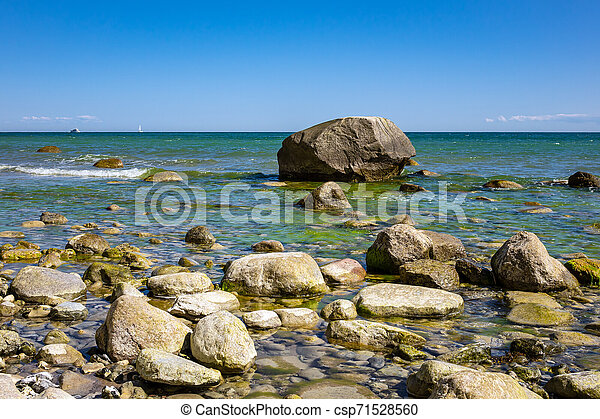 Baltic Sea coast on the island Ruegen in Germany - csp71528560