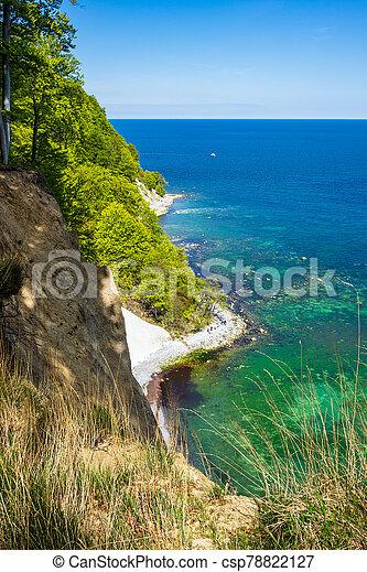 Baltic Sea coast on the island Ruegen in Germany - csp78822127