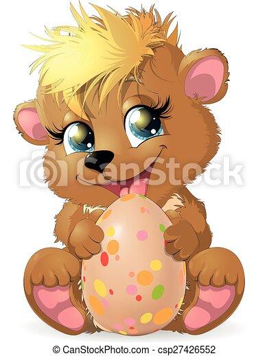 Bear and egg - csp27426552
