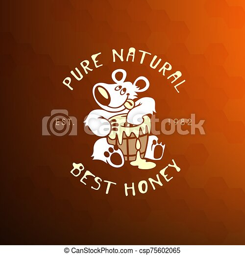 Bear and honey - csp75602065