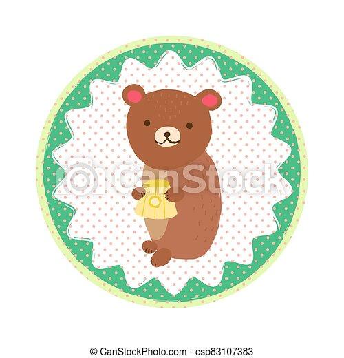 Bear badge emblem - csp83107383