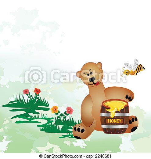 bear eats honey - csp12240681