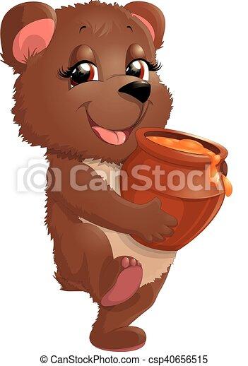 Bear in beautiful pose - csp40656515