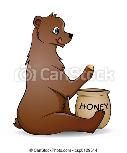 bear with honey - csp8129514
