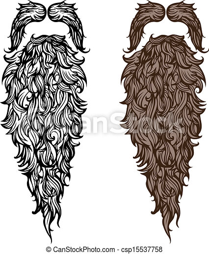 Beard and mustache - csp15537758