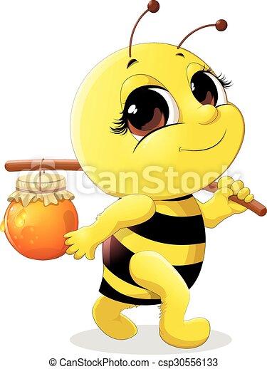 beautiful bee - csp30556133