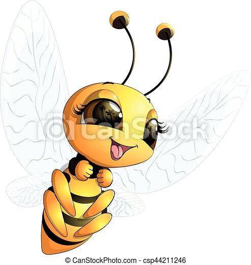 beautiful cute bee - csp44211246