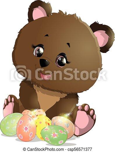 beautiful Easter bear - csp56571377