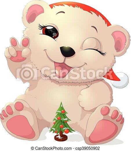 beautiful white bear - csp39050902