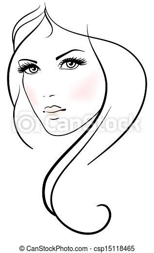 Beautiful young woman - csp15118465