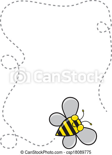 Bee Border - csp18089775