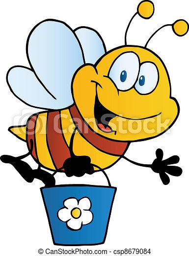Bee Flying Bucket - csp8679084