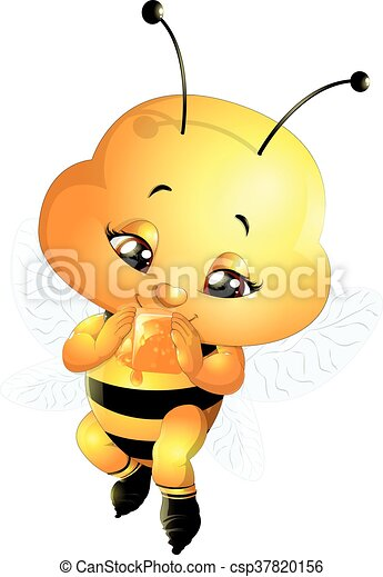 bee on a white background - csp37820156