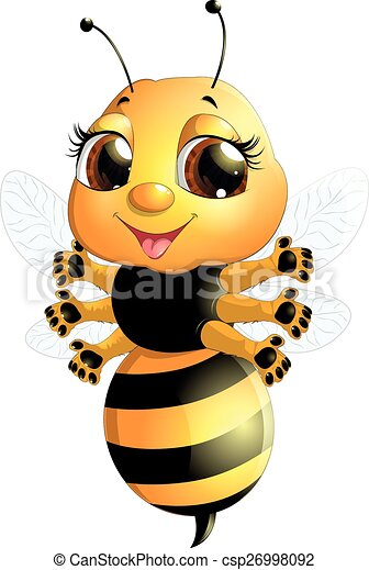 bee on a white background - csp26998092