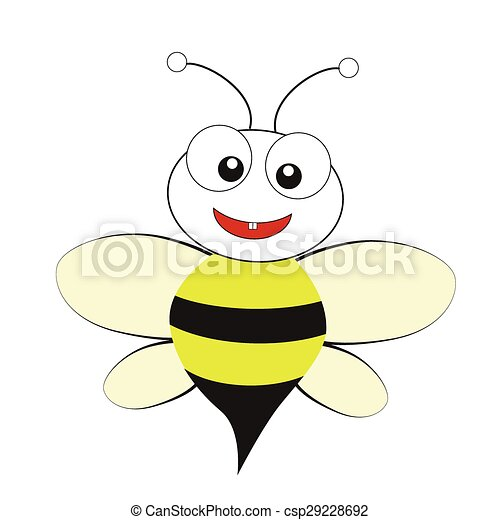 bee on a white background - csp29228692