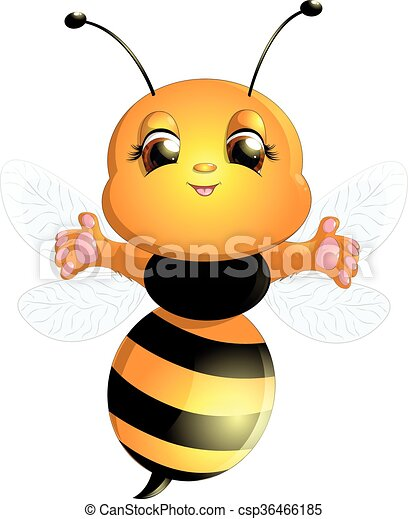 bee on a white background - csp36466185