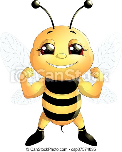 bee on a white background - csp37574835