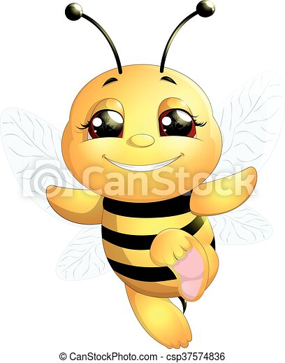 bee on a white background - csp37574836