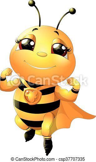 bee on a white background - csp37707335