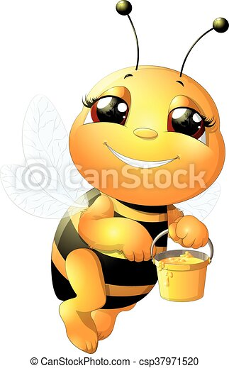 bee on a white background - csp37971520
