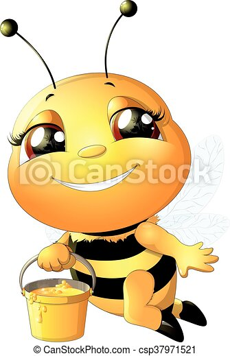 bee on a white background - csp37971521