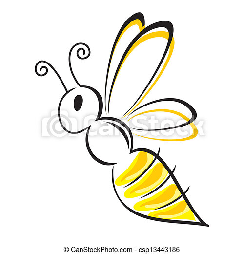 bee stylized - csp13443186